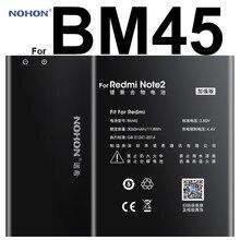 100% original nohon li-ion bateria 3060 mah bm45 para xiaomi redmi nota 2 hongmi vermelho arroz note2 alta capacidade substituição bateria