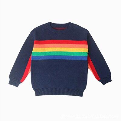 1 -6Yrs Baby Girls Sweater Autumn Winter Baby Boy Sweater Boys Girls Stripe Children Clothes Children Clothing 12