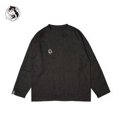 Camisa de manga larga de lino de verano para hombre camisa de moda Vintage de estilo chino para hombre otoño Primavera de algodón camisa de moda Casual