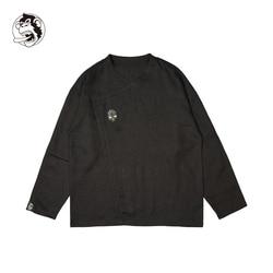 Man Zomer Linnen Lange Mouwen Chinese Stijl Vintage Mode Shirts Voor Man Herfst Lente Linnen Katoen Casual Mode Overhemd