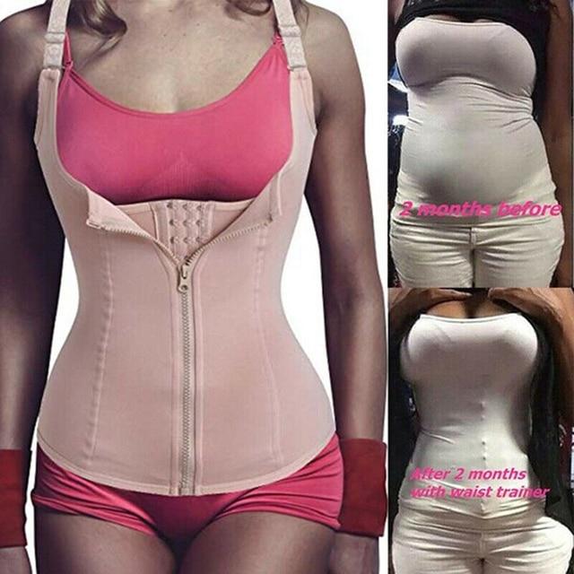 נשים Neoprene Shaperwear מותן Traine לדחוף את אפוד בטן בטן מחוך גוף Shaper מותן Cincher מחוך Faja חגורת הרזיה