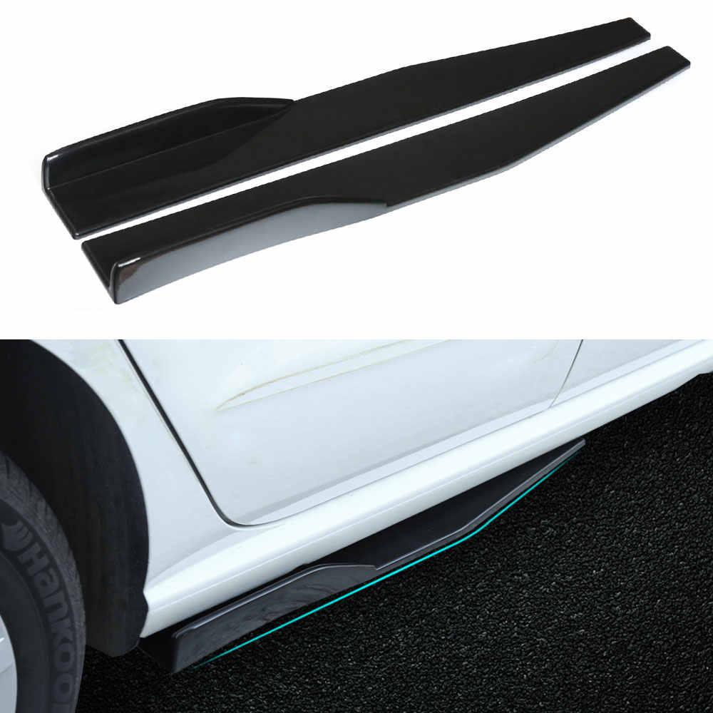 Gorgeri 2pcs Auto Universal Seitenschweller Seitenschweller Rocker Splitter Winglet Fl/ügel Canard Diffusor Seitenteiler Glossy Black