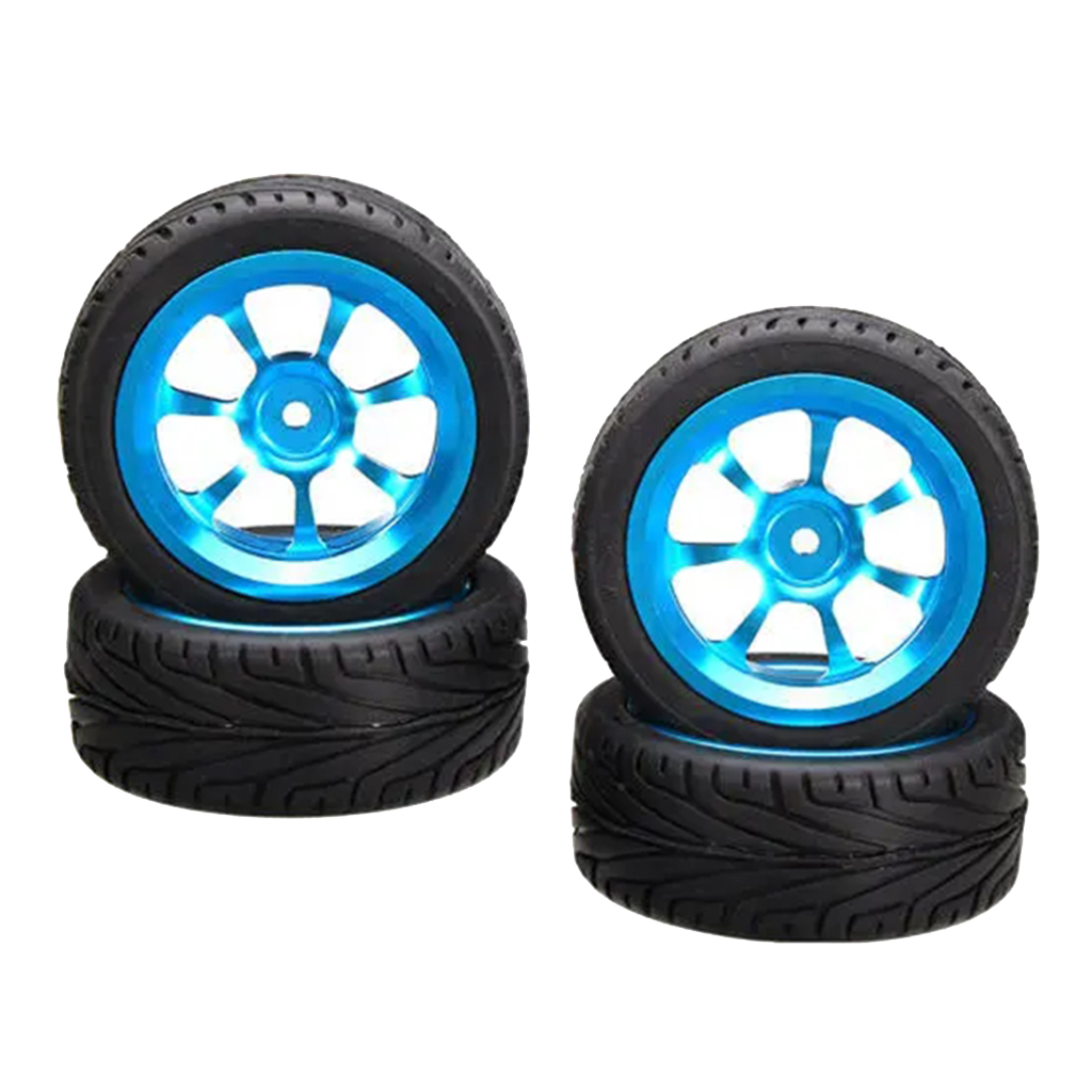 4x 14th Scale Remote Control Large Size Tyres 68mm Dia fit for Wltoys 144001