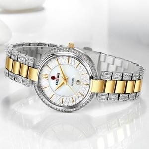 Image 3 - KADEMAN Montre à Quartz pour femmes, accessoire de marque de luxe, accessoire de mode, cristal, diamant étanche, nouveauté