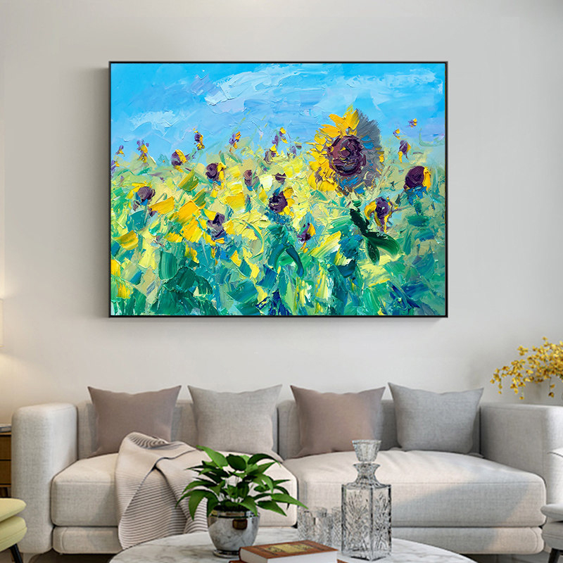 100-Hand-Painted-Abstract-Sunflowers-Art-Painting-On-Canvas-Wall-Art-Wall-Adornment-Pictures-Painting-For (3)