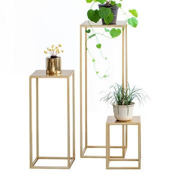 Soporte para flor del Metal nórdico para interior maceta verde para planta soporte para sala de estar estante de metal balcón suelo simple flor estante Mesa