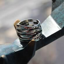 Кольцо из тайского серебра в этническом стиле регулируемое кольцо