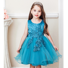 Vgiee Princess Dress for Girls Kids Baby Girl Clothes  Cotton  Flowers  Knee-Length Birthday Dress for Girls CC628 цена