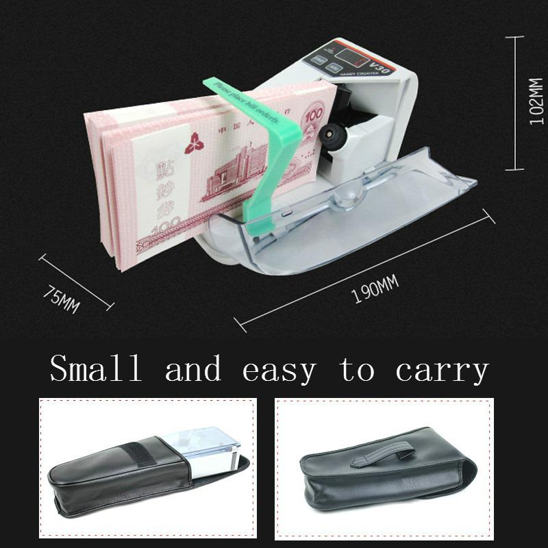 V30 Multi-country Banknote Portable Counting Machine Gift Mini Small Counting Machine Holding Banknote Business Gift