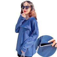 Feeding-Shirt 9175 Long-Sleeve Maternity-Wear Cotton Spring Solid Knit