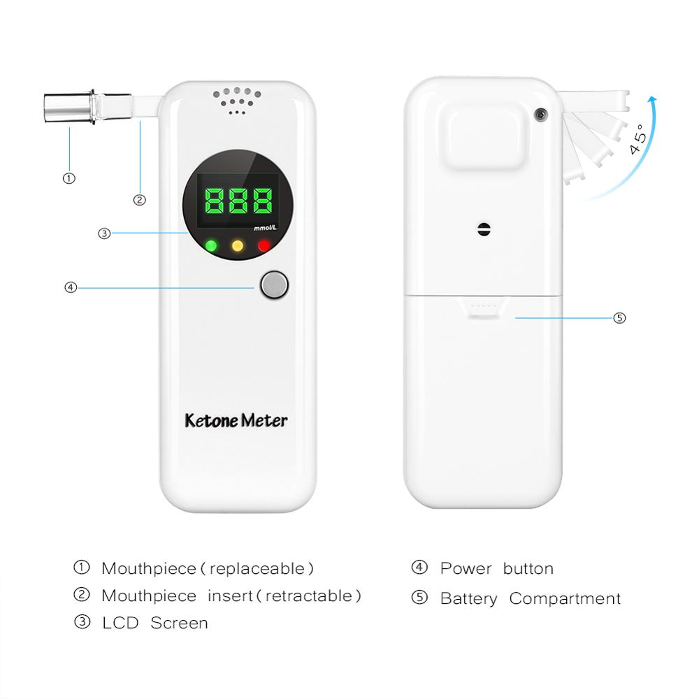 2020 EEK-Brand  Newest Technology Breath Ketone Meter The Most Accurate Way To Determine Your Ketone Levels