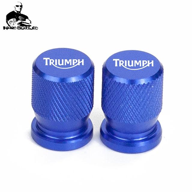 accessoires de remplacement Pour Triumph Daytona 675 Street Triple//R Tiger Explorer 2 pi/èces bouchons de tige de Valve de pneu avec Logo cache-poussi/ère de pneu de Valve en aluminium de moto