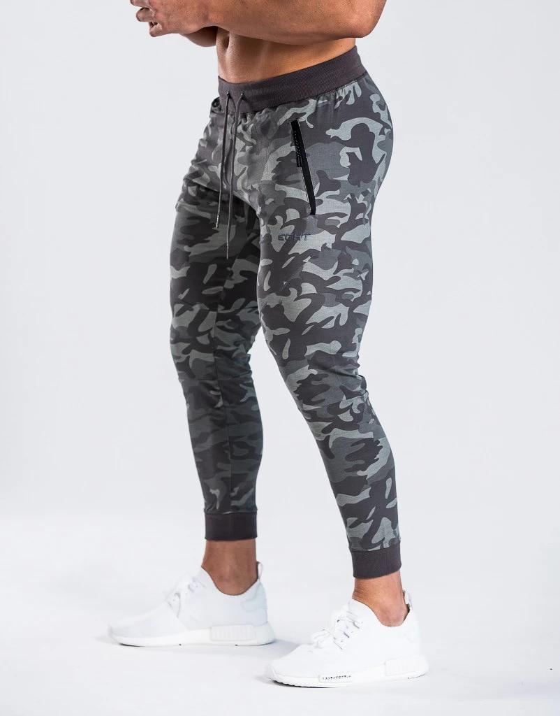 2019 New Gyms Mens Casual Joggers Pants Men High Street Workout Pants Skinny Sweatpants Black Elasticity Men Casual Pants