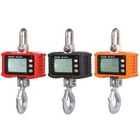 1000KG/2000LBS Digital Hanging Scale Industrial Heavy Duty Crane Scale with Accurate Reloading Spring Sensor