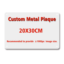 Sinal de metal personalizado vip placa do vintage