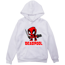 Moda Deadpool aksamitne bluzy Wade Winston Wilson dzieci chłopcy dziewczęta bluzy w stylu casual dres z kapturem dzieci świąteczne topy tanie tanio COTTON Swetry Drukuj Na co dzień REGULAR Suknem Pełna Sportswear