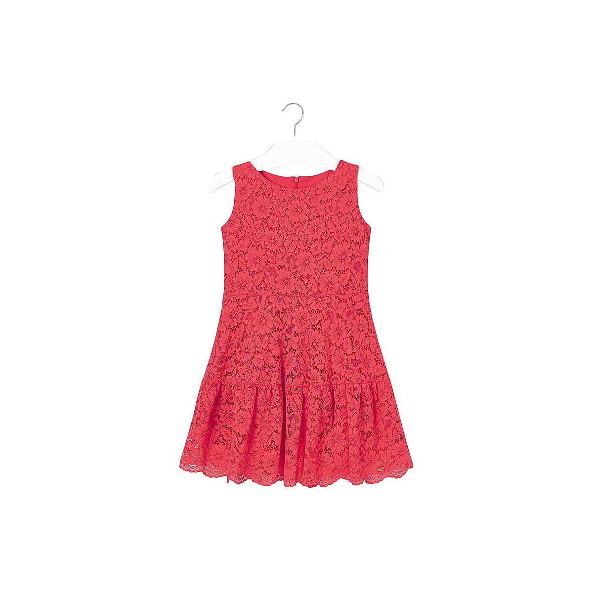 Фото - MAYORAL Dresses 10689180 Girl Children Party fitted pleated skirt Orange Cotton Preppy Style Floral Knee-Length Sleeveless Sleeve box pleated floral volume skirt