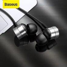 Baseus-auriculares con cable H04 para teléfono, cascos con sonido de graves, estéreo, deportivos, para música, con micrófono