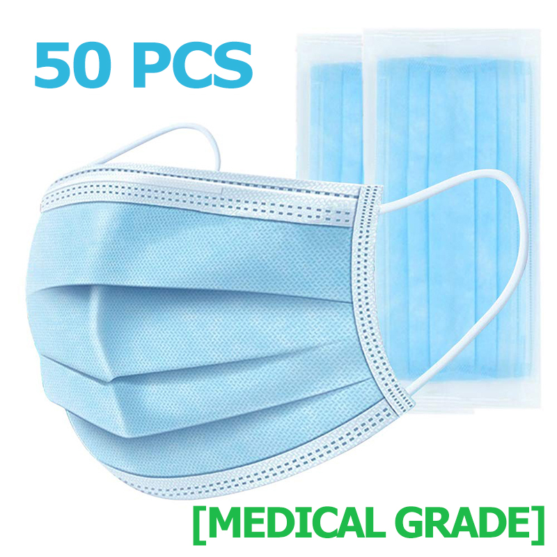 Disposable Face Mouth Mask Anti Germ Virus Protection Filter Respirator Coronavirus COVID-19 Influenza Flu CE Certificate Safety