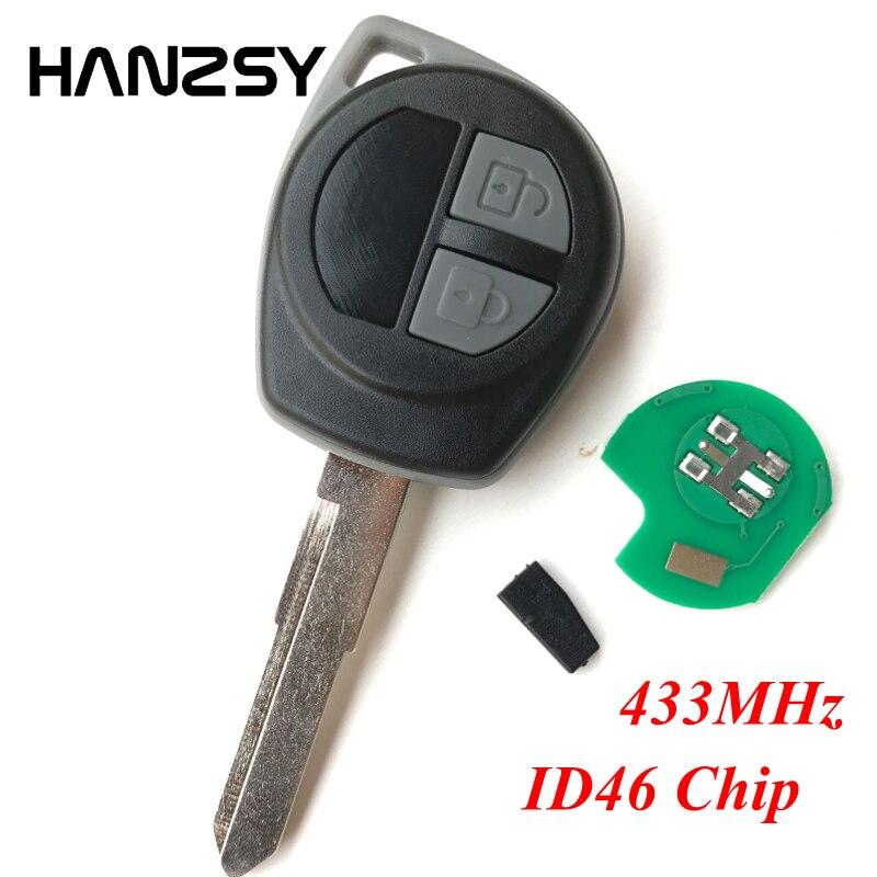 2 أزرار 433MHz سيارة مفتاح بعيد لسوزوكي سويفت SX4 ألتو جيمني فيتارا IGNIS سبلاش 2005 2006 2007 2008 2009 2010 مع ID46 رقاقة