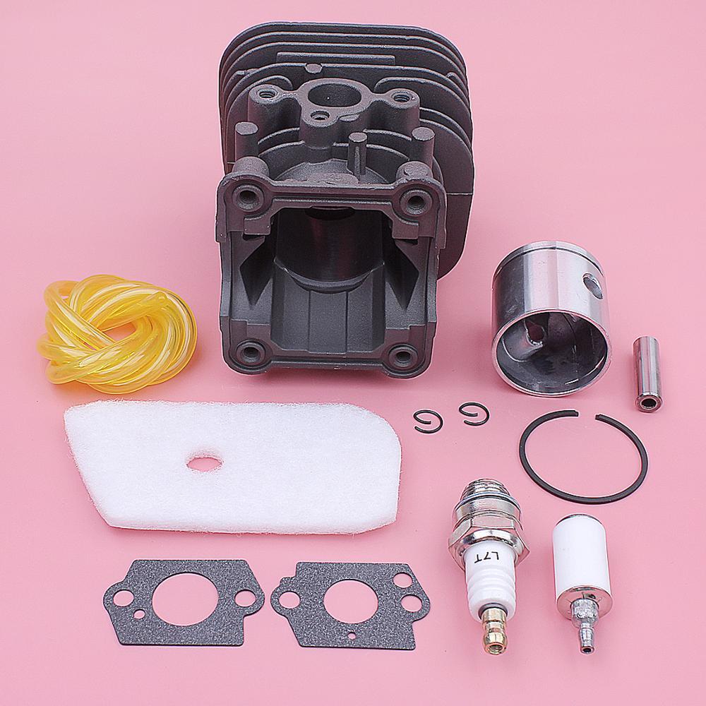 Kit de filtre à Air de Piston de cylindre pour Husqvarna 128C 128CD 128L 128LD pièces de tondeuse 545008082 joint de Carb bougie d'allumage 35mm - 6