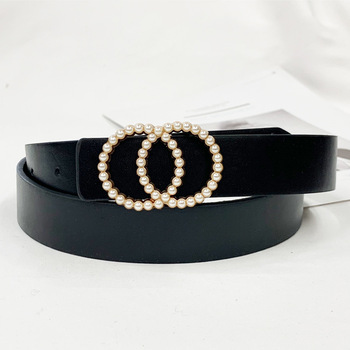 Waist pearl fashion belts for women