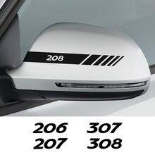 Auto Achteruitkijkspiegel Cover Stickers Decals Voor Peugeot 206 207 208 307 308 407 107 301 306 406 408 508 607 2008 Auto Accessoires