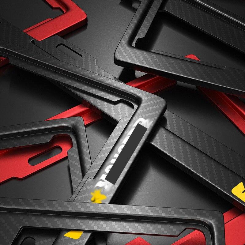 Targa di immatricolazione Holder logo Personalizzabile Numero di Targa Supporto Targa Piatti Absmerced Licens Piastra Telaio di Altra Marca