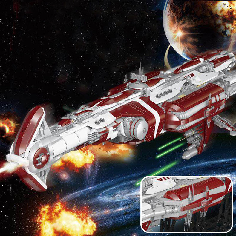 05079 Star Toys Wars The MOC Zenith Old Republic Escort Cruiser Model Compatible With Legoing Building Blocks Kid Christmas Gift 10