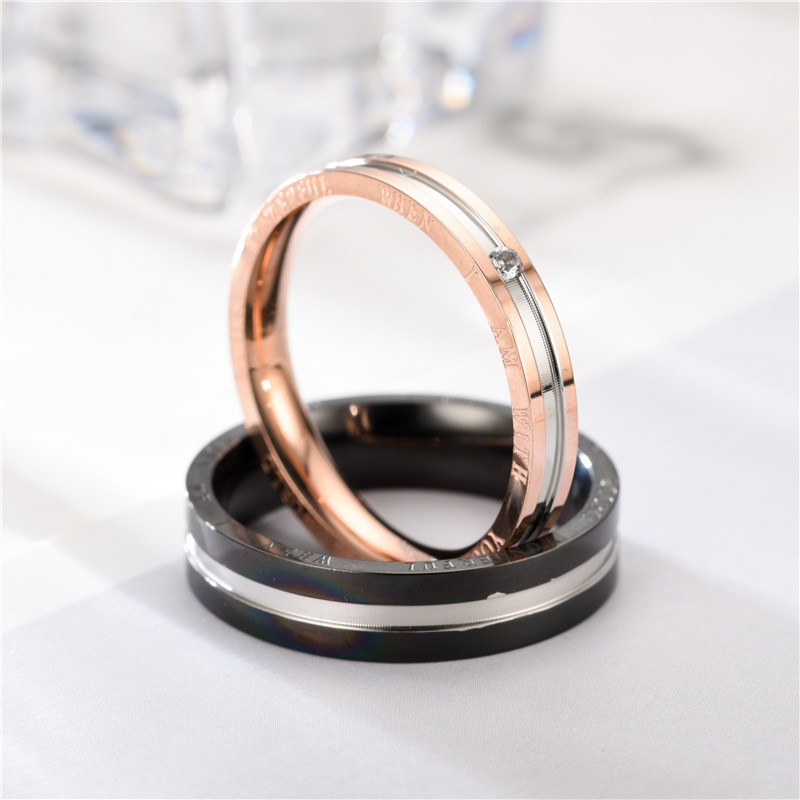 Alloy Silver Ring Jewelry Accessories Engagement Ring Rings for Lovers Stainless Steel Ring Simple and Stylish Couple Rings - 5