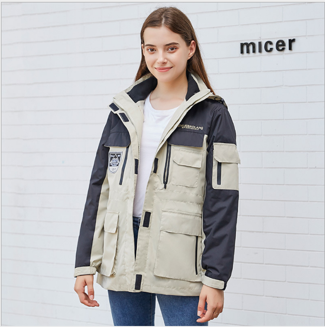 2019 Couples Jacket Two Sets Of Outdoor Multi-Pocket Plus Cotton Liner Windproof Warm Three-in-One Jacket Free Shipping