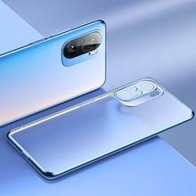 Luxury Plating Frame Transparent Soft Silicone Case for Xiaomi Mi 11 Lite Ultra 10t Redmi 9T 9A Note 9 Pro K40 Clear TPU Cover