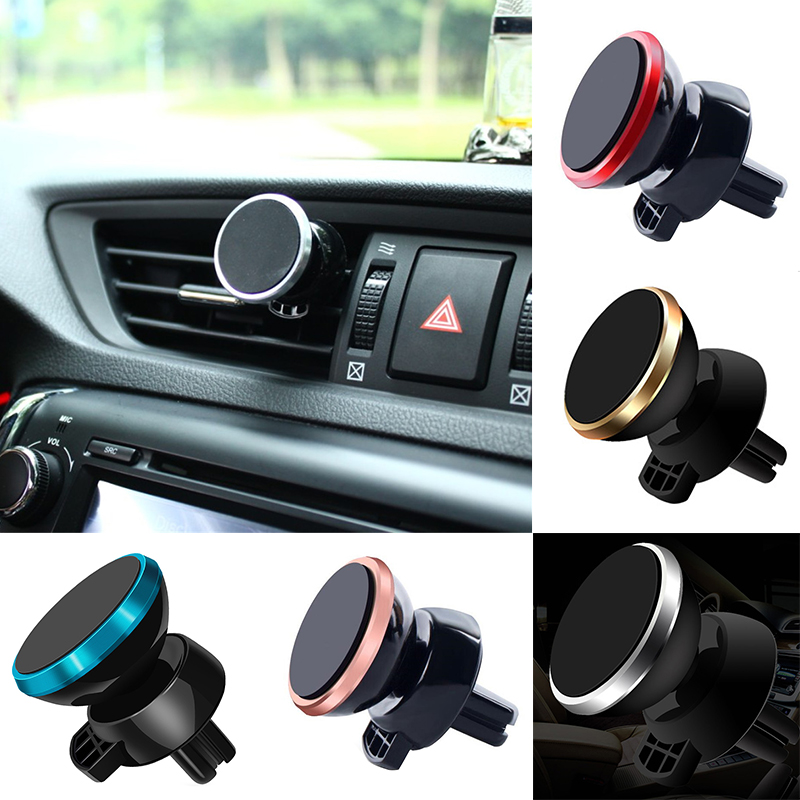 360 Degree Universal Car Phone Holder Magnetic Air Vent Magnet Mobile Phone Car Holder For Cell Phone Car Mount Holder 5 Colors