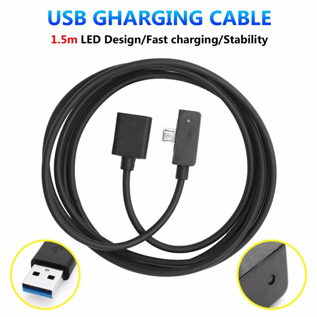 2019 novo 20awg 2.5a 1.5 m 5ft micro cabo de carregamento usb led indicador design para microsoft surface 3 linha carga usb cabo