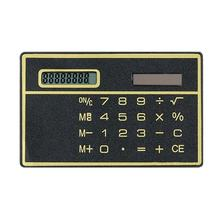 8 Digit Ultra Thin Solar Power Calculator with Touch Screen Credit Card Design Portable Mini Calculator for Business School(China)