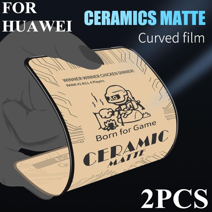 En céramique Mat En Verre Trempé pour Huawei P40 P20 P30 Lite Mate 10 30 20 Honor 10 30I 8S 8X 8A 7A 9X 20 Pro Film Protecteur Décran
