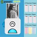 Poooli L2 принтер этикеток 300 точек/дюйм карман Термальность фотопринтер BT Беспроводной чековый Label Стикеры Maker для смартфонов iOS и Android