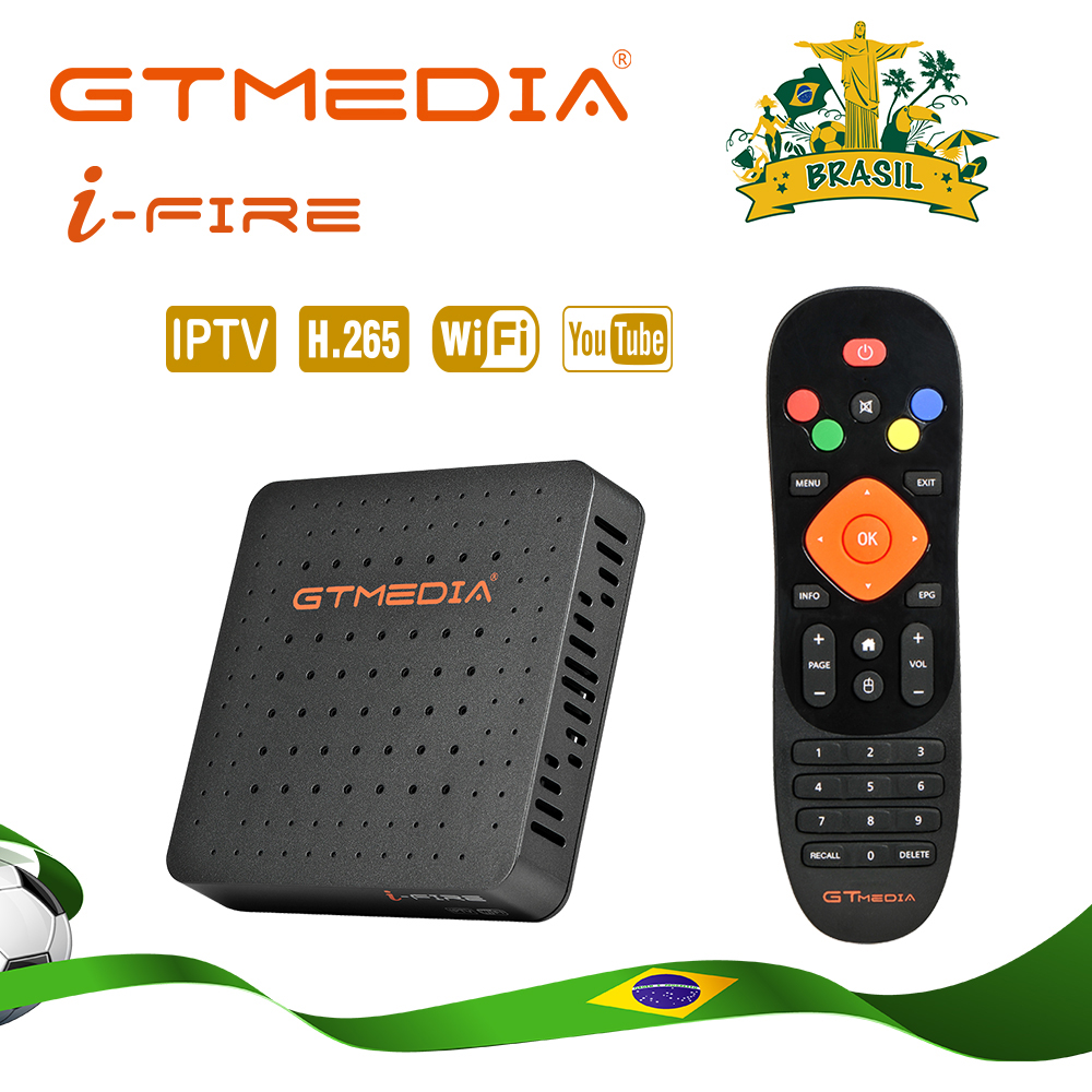 Brasilien GTMedia Ifire IPTV Box Digital Set Top Box TV Decoder VOLLE HD 1080P (H.265) eingebaute WIFI modul IPTV BOX unterstützung M3U