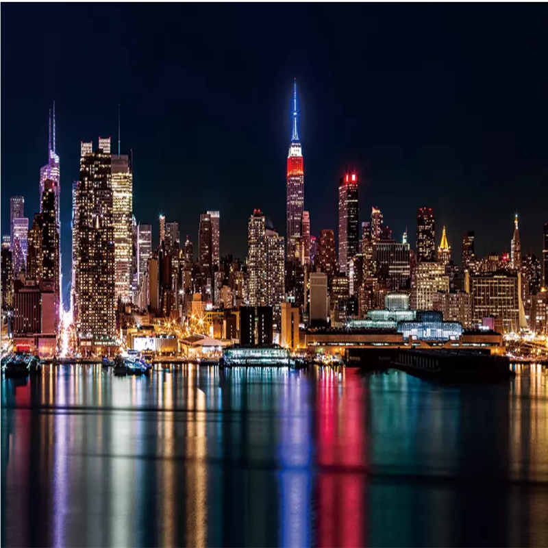 Custom Photo Wallpaper 3d Hd New York City Night Scene Wall Mural Wallpapers For Living Room 3d Wall Paper Home Improvement Wallpapers Aliexpress