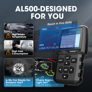 Image 3 - TOPDON AL500 מלא OBD2 סורק רכב OBDII כלי אבחון אוטומטי קוד תקלת קורא קוד לקרוא מנוע לבדוק בדיקת ערפיח תור off IML