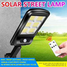 Wall-Light Brightness Garden Solar Outdoor Waterproof LED with Remote-Control Adjustable