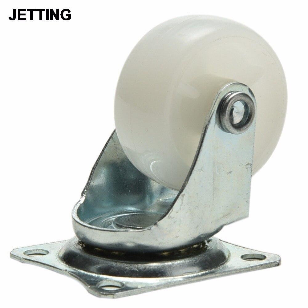 Roda giratória de nylon para móveis, roda giratória de 10kg para móveis de carro inteligente, cadeira, armário, pernas inferior, roda omni 1pc-0