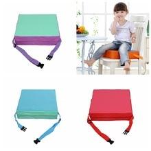 Регулируемое детское кресло моющееся портативное кресло-бустер съемные чехлы складные обеденные повышающие подушки