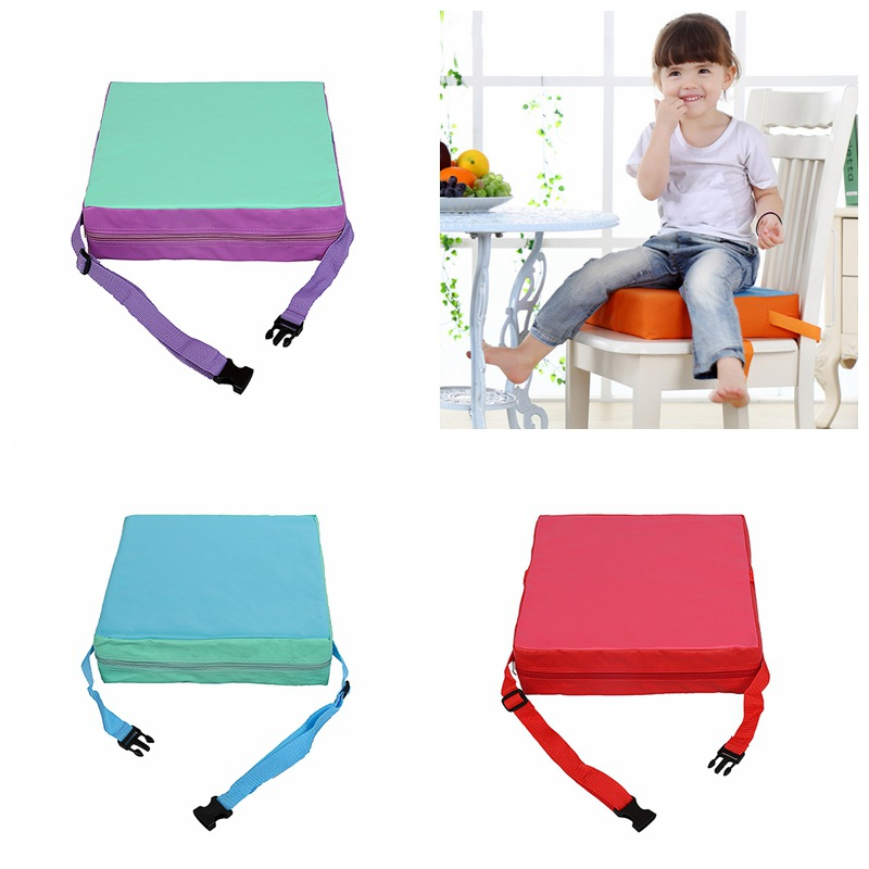 Adjustable Baby Chair Washable Portable Chair Booster Seat Pads Removable Cover Foldable Dining Heightening Cushion