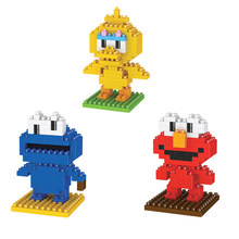 Hot Legoinglys Pembuat Kartun Sesame Street Angka Elmo Big Bird Cookie Monster Mini Micro Diamond Blok Bangunan Model Mainan(China)