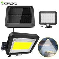 Lámpara de pared con Sensor de luz por movimiento PIR Solar, iluminación para interiores y exteriores, impermeable, ahorro de energía, 56/100 LED