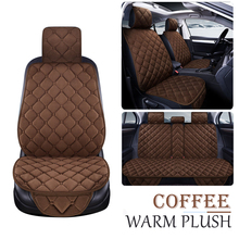 Warm Pluche Car Seat Cover Winter Faux Fur Auto Front Back Rear Met Rugleuning Zitkussen Protector Pad Interieur Accessoires
