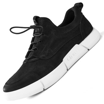 2020 New Sneakers New Fashion High Quality Soft Simple Casual Shoes Men Comfortable Breathable Ultra-light Genuine Leather Shoes