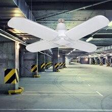 LED Garage Light Folding E27 2/3/4 Leaf Workshop Ceiling Lights Fixture Deformable Lamp Lampen Industrieel 95-265 V