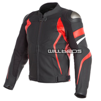 Dain AVRO 4 Leather Jackets Motorcycle Motocross Motorbike Scooter Mesh Leather Jacket With Protector